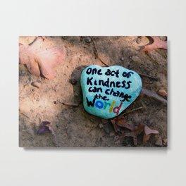 Kindness rock Burke Lake Metal Print