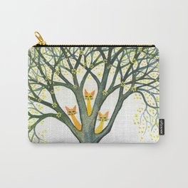 Odessa Whimsical Cats in Tree Carry-All Pouch