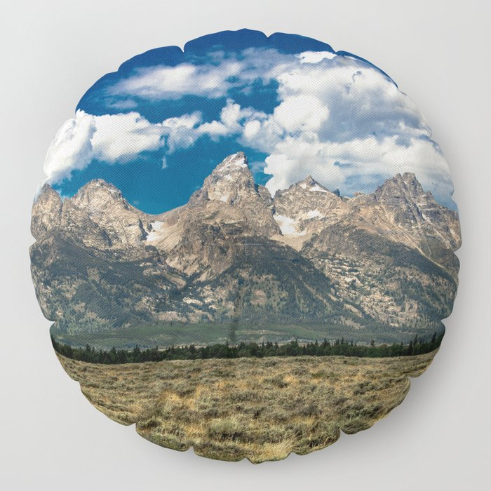 The Grand Tetons - Summer Mountains Floor Pillow