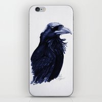 raven iPhone & iPod Skins featuring .Raven by Isaiah K. Stephens
