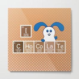 Ernest | Likes Chocolate Metal Print