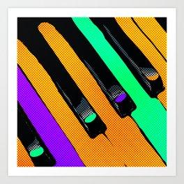 Piano Pop Art Print