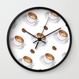Cappuccino - diagonal Wall Clock
