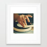 vinyl Framed Art Prints featuring Vinyl by Gina Conti