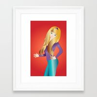 doll Framed Art Prints featuring Doll by Flying Cat Artwork