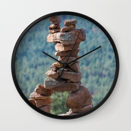 Military Sinkhole Scenic Outlook Rock Figure Wall Clock