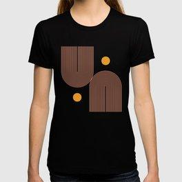 Abstraction_SUN_DOUBLE_LINE_POP_ART_Minimalism_001C T-shirt