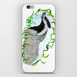 European Badger Watercolor iPhone Skin