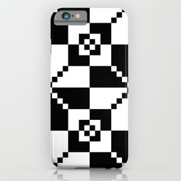 #10 Black And White Minimalist Geometrical Squares Pattern iPhone Case