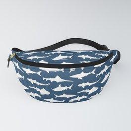 Sharks on Regal Blue Fanny Pack