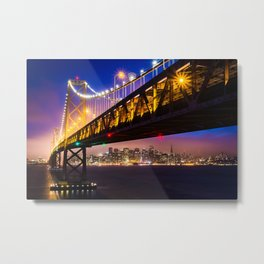 Bay Bridge at Sunset Metal Print