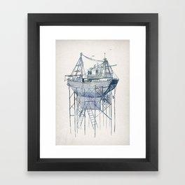 Dry Dock II Framed Art Print