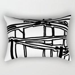 electric cords- urban view Rectangular Pillow