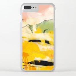 landscape abtract - paysage jaune Clear iPhone Case