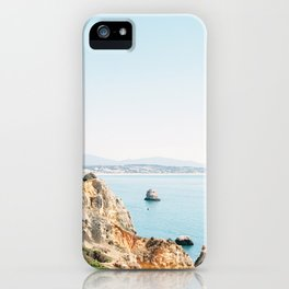 Coast of Lagos, Algarve in Portugal | Bright and airy seascape photography art iPhone Case
