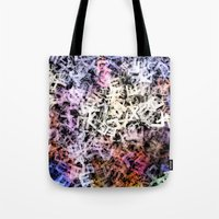 letters Tote Bags featuring Letters by Artwork Studio