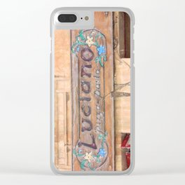 Luciano's Pizza Clear iPhone Case