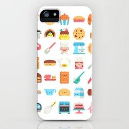 CUTE BAKERY PATTERN (CUTE CHEF BAKER) iPhone Case