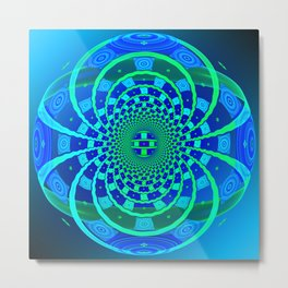 Shield of Blue Metal Print
