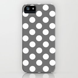 Lunares gris iPhone Case