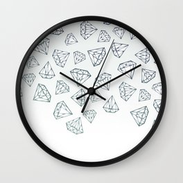 Diamond Shower Wall Clock