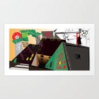 mazes of cities Art Print