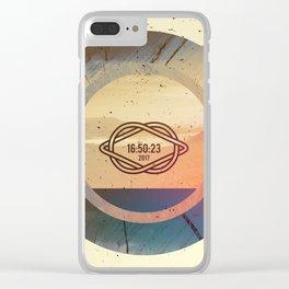 Desert 16:50:23 2017 Clear iPhone Case