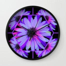 Elegant Painted Flowers  Wall Clock