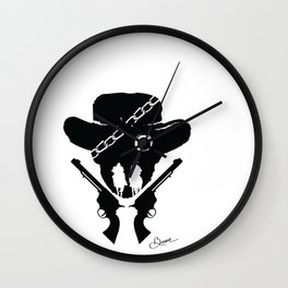 DJANGO UNCHAINED Beth Bacon Collectible Designs no.2 Wall Clock