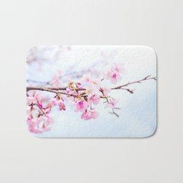 Japanese cherry-blossom tree, 'Oh-kanzakura' Bath Mat