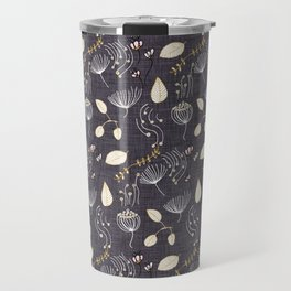 Winter Floral Charcoal Travel Mug