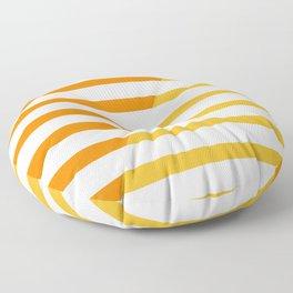 Beach Stripes Orange Yellow Floor Pillow
