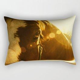 Evening Flare Horse - Animal Photography - Farm Animal - Pet Rectangular Pillow