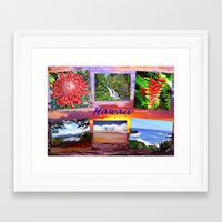 hawaii Framed Art Prints featuring Hawaii by Art-Motiva