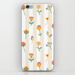 Paper Cut Flowers iPhone Skin