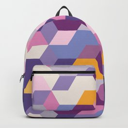 Violet Pattern Backpack