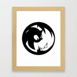 Wrath of Nazo Black and White Emblem Framed Art Print