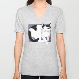 If It Fits, Cat Sits Unisex V-Neck