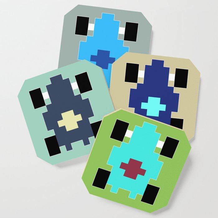 Pixel Car [blue] Coaster