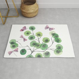 a touch of summer fragrance - white background Rug