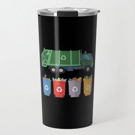 Garbage Truck Kids Trash Recycling Travel Mug