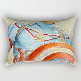 Capt America - Fictional Superhero Rectangular Pillow
