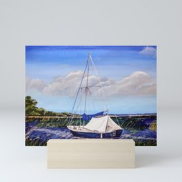 quiet sailing Mini Art Print
