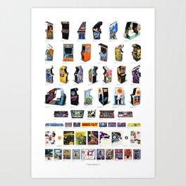 Arcade Art Art Print
