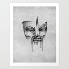 Mad Samurai Art Print