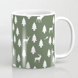 Woodland Pattern: Green Coffee Mug