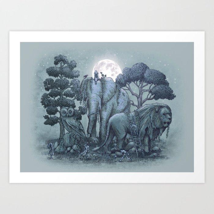 Midnight in the Stone Garden (colour option) Art Print