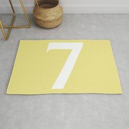 7 (WHITE & KHAKI NUMBERS) Rug