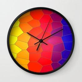 Coloured Mosaic Wall Clock