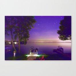 Lake Simcoe start nights Canvas Print
